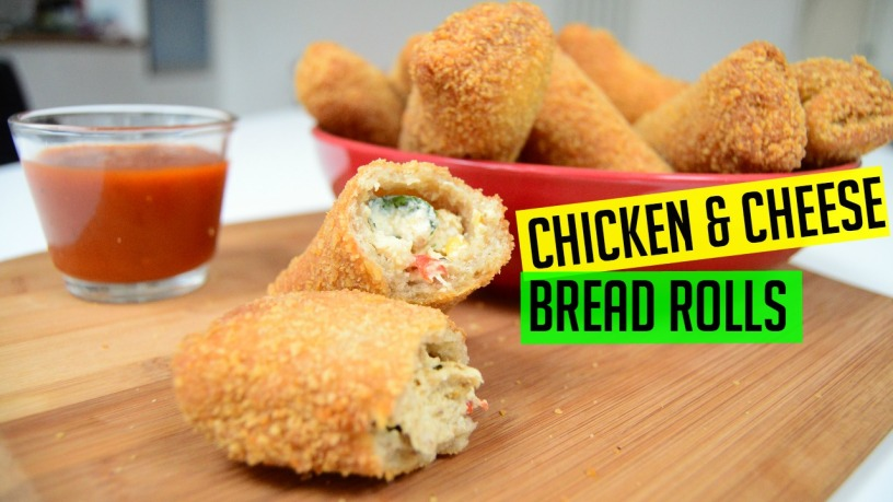 Bread Rolls with Chicken & Cheese